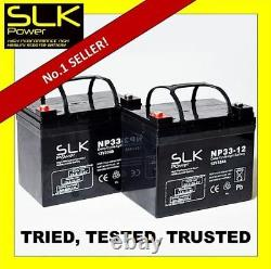 2 x (12v) 33ah MOBILITY SCOOTER ELECTRIC WHEELCHAIR AGM BATTERIES