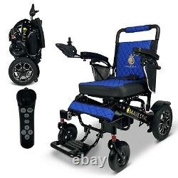 2021 Travel 19'' Luxury Designed Leather Electric Wheelchair Lightweight