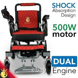 2021 Travel 19'' Luxury Leather Limited Electric Power Wheelchair, Lightweight