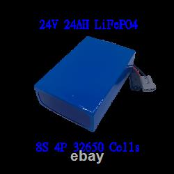 24V 24AH LiFePO4 Ebike Battery Lithium 5A Charger Electric Scooters Wheelchairs