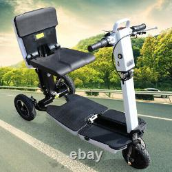 3-Wheel Electric Mobility Scooter 3 Speed Mode Motorized Wheelchair Folding 48V