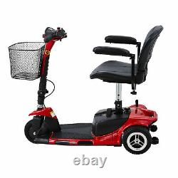 3-Wheel Mobility Scooter Power Travel Scooter Wheelchair Equivalent for Adults