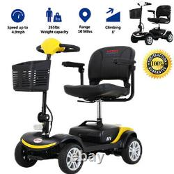 4 Folding Wheel Wheelchair Mobility Scooter Electric Powered Travel Elder 300W