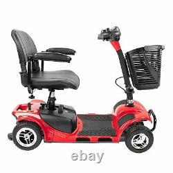 4 Wheel Mobility Scooter Electric Power Mobile Wheelchair Collapsible Compact