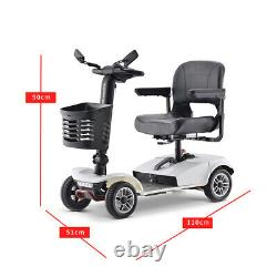 4 Wheel Mobility Scooter Electric Powered Wheelchair for Travel Adults Elderly