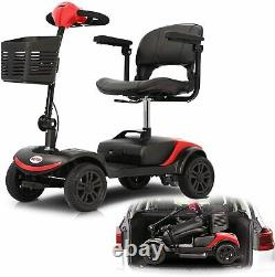 4 Wheel Mobility Scooter Powered Wheelchair Electric Device Compact Travel use