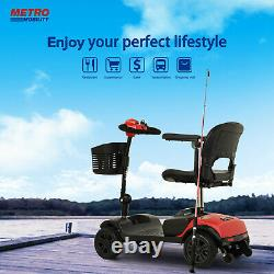 4 Wheel Mobility Scooter Powered Wheelchair Electric Device Compact foldable