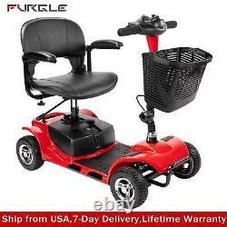 4-wheel Electric Wheelchair Powered Mobility Scooter For Adults Compact LIFETIME