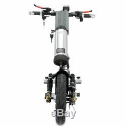 48V/350W 10AH Attachable Electric Handcycle Scooter Handbike Wheelchair 12 Tyre