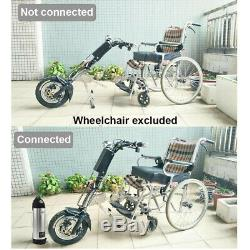 48V/350W 10Ah Attachable Electric Handcycle Scooter Handbike Wheelchair NEW