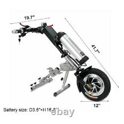 48V/350W 10Ah Attachable Electric Handcycle Scooter for Wheelchair Motor Driving