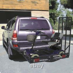 500lbs Folding Strong Electric Wheelchair Hitch Carrier Scooter Loading Ramp