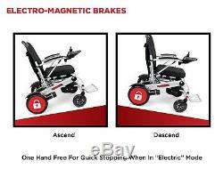Deluxe RANGER Folding Motorized Wheelchair, lightweight compact Power Scooter
