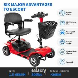 Electric Mobility Scooter 4 Wheel Travel Scooter Electric Powered Wheelchair USA