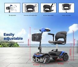 Electric Mobility Scooter Folding 300W 5MPH Tranport Power Wheelchair