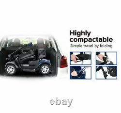 Electric Power Mobility Scooter 4Wheel Compact Scooter WheelChair Folding Travel