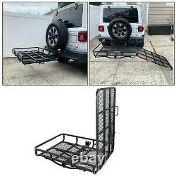 Electric Scooter Wheelchair Hitch Carrier Disability Medical Rack Ramp 500 lbs