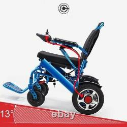 Electric Wheelchair, Portable Motorized Foldable Power Wheelchair Scooter Blue