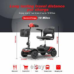 FOLD And TRAVEL power 4 wheels Mobility Scooter electric Wheel chair Lightweight