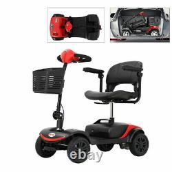 FOLD TRAVEL Electric 4 wheel Mobility Scooter Power Wheel chair Lightweight USA