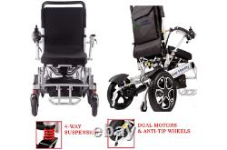 FORCE Electric Wheelchair, Portable Motorized Foldable Power Wheelchair Scooter