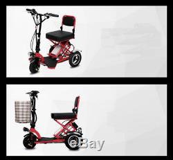 Foldable Electric Scooter 3 Wheel Folding Portable Travel Home Mobility Elderly2
