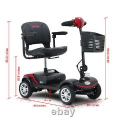 Folding 4 Wheel Electric Mobility Scooter For Elderly Travel Portable Wheelchair