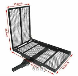 HECASA Foldable Electric-Wheelchair Hitch Carrier Mobility Scooter Loading Ramp