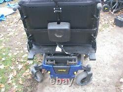 Jazzy 1450 wheelchair, blue, 27 WIDE 600 LBS WEIGHT LIMIT POWER TILT SEAT LOOK