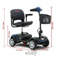 Mobility Scooter 4 Folding Wheel Wheelchair Electric Powered Travel Elder 4.9MPH