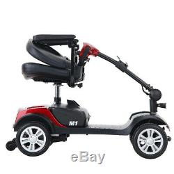 NEW 4-Wheel Mobility Scooter Electric Powered Mobile Wheelchair Device Folding