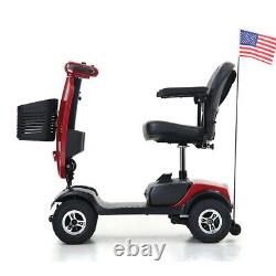 NEW 4 Wheel Travel Mobility Scooter Portable Mobile Wheelchair Device Folding