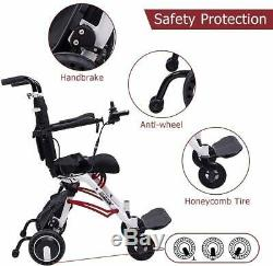 NEW Electric Foldable Wheelchair Lightweight Aid Scooter With250W Brushless Motor