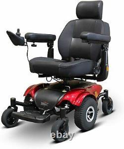 New EWheels EW-M48 Medical Travel Mobility Power Electric Wheelchair Red