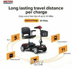 New Electric Mobility Scooter 4 Wheel Travel Scooter Electric Powered Wheelchair