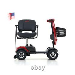 Outdoor Compact Mobility Scooter with Windshield LED Light Electric Wheel Chair