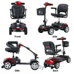 Portable Folding Mobility Scooter Compact 4 Wheel Elderly Travel WheelChair Red