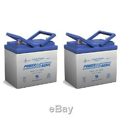 Power-Sonic 2 Pack 12 Volt 35 Amp Hour Battery Electric Wheelchair Scooter U1
