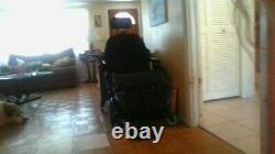 Pride Jazzy J6 Electric Wheelchair, Large, Black, comes with seat padding