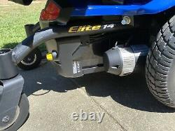 Pride Mobility Jazzy Elite 14 Electric Wheelchair Scooter Blue