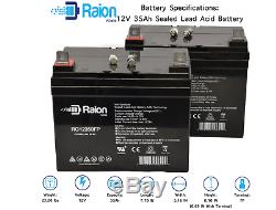 Raion Power 2 Pack 12 Volt 35 Amp Hour Battery Electric Wheelchair Scooter U1