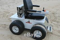 Sand Helper Electric Motorized All Terrain Beach Wheelchair