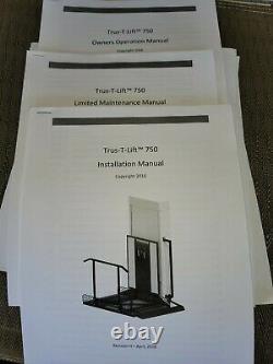 Scooter & Wheelchair Elevator Trus-T-Lift brand 750 lbs. Capacity Indoor/Outdoor