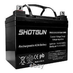 Shotgun 2 Pack 12 Volt 35 Amp Hour Battery Electric Wheelchair Scooter U1