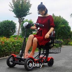 Smart mini dual wide light weight folding travel wheelchair electrik scooter