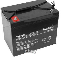 UPG 12V 80Ah Group 24 Battery for Scooter Wheelchair Golf Cart Electric DC