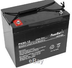 12v 80ah Groupe Upg 24 Batterie Pour Fauteuil Roulant Scooter Voiturette Électrique DC