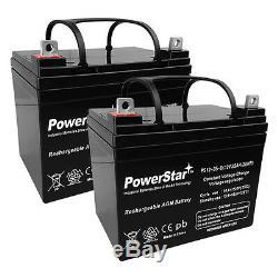 (2) Powerstar Remplacement 12v 35ah U1 Fauteuil Roulant Électrique Batteries De Scooter