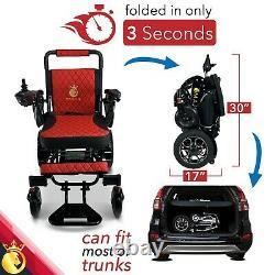 2021 Travel 19'' Luxury Designed Leather Electric Wheelchair Lightweight
