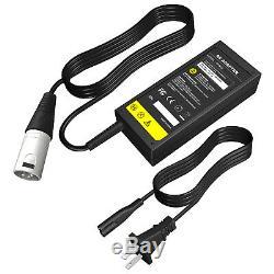 24v 2a Xlr Mobility Fauteuil Roulant Électrique Scooter Gel / Plomb Chargeur De Batterie